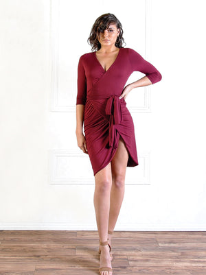 Oloris Wrap Dress