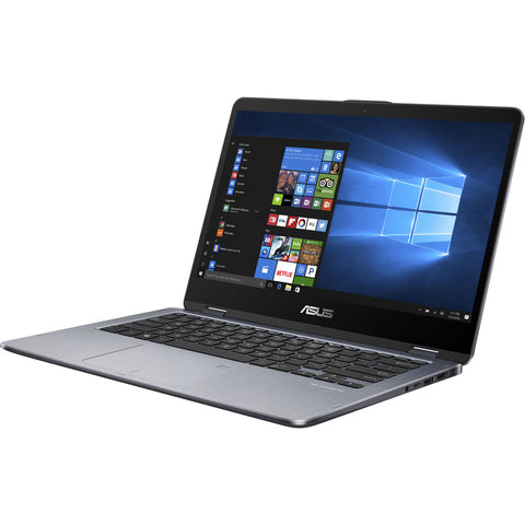 "ASUS 14"" VivoBook Flip 14 MultiTouch 2in1 Laptop i5-8250U 8GB 1TB SSHD Win 10 H"