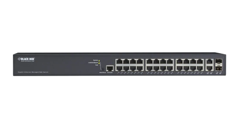 Black Box LPB2926A 26-Port Gigabit Ethernet Managed PoE+ Switch