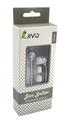 Jivo Jellies In Ear Headphones White JI-1060W