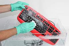 Silver Shield Silver Storm™ Washable Keyboard - STK503RED Opened