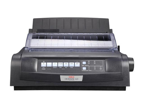 OKIDATA MICROLINE 420n Black (91909704) USB 9 pin 240 x 216 Dot Matrix Printer