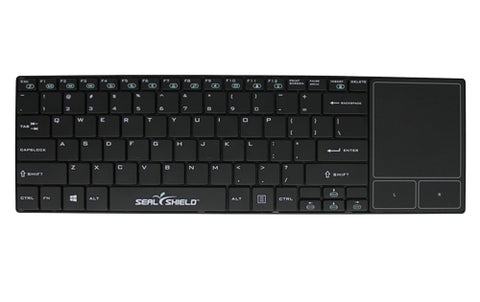 Seal Shield Cleanwipe Wireless Waterproof Keyboard W/Touch Pad Black SSKSV099WP