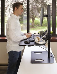 Ergotech Single Freedom Sit-Stand Desk Workstation FDM-STAND-1