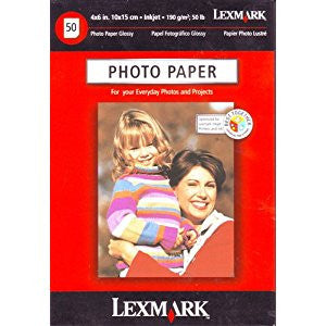 Lexmark 4 x 6 Inch (10 x 15 cm) Photo Paper for Inkjet Printers - 50 Sheets