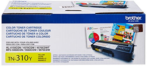 Brother TN310Y Yellow Toner Cartridge Retail Packaging