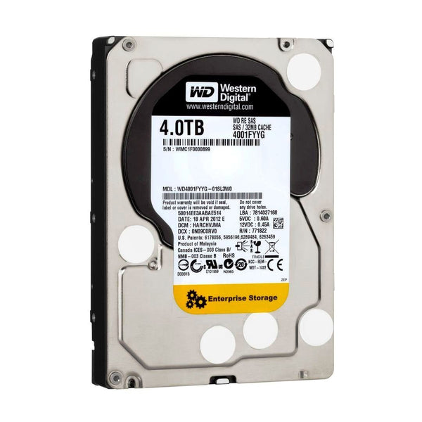 Western Digital RE 4TB 7200RPM 32MB Cache - SAS 6Gb/s WD4001FYYG