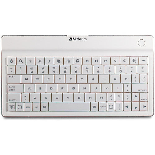 Verbatim Ultra-Slim Bluetooth Wireless Mobile Keyboard (White) 97754