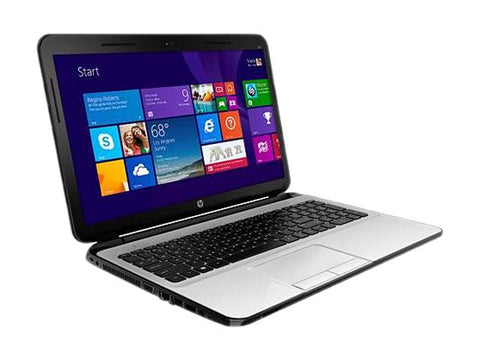 "HP 15-d072nr Laptop AMD A6 Quad-Core 4GB Ram 500GB HD 15.6"" Win 8.1 Pearl White"