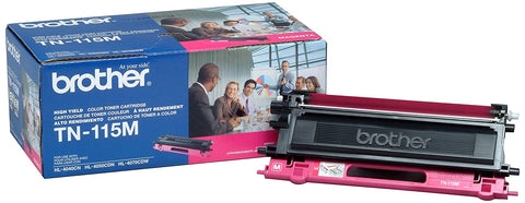 Brother TN-115M Toner Cartridge 4000 Page-Yield Magenta Slightly Used