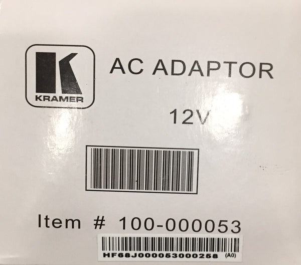 Kramer Battery Supply for VP-200NA 100-000053 AC Adaptor 12V