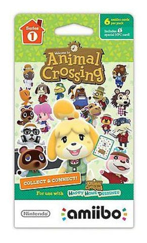 Nintendo Animal Crossing amiibo Cards Series 1 (6-Pack) NVLEMA6A