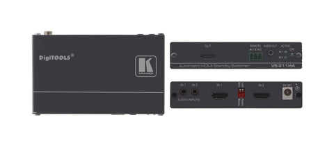 Kramer Electronics 70-80211190 VS-211HA 2x1 Automatic HDMI Standby Switcher