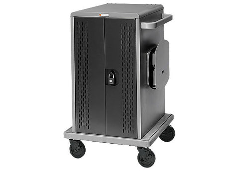 Bretford 36 Unit Chromebook Cart w/Doors w/Casters Back Panel CDWCHROME36
