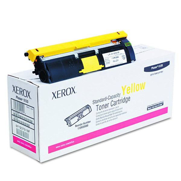 Xerox 13R00690 Yellow Standard Capacity Toner Cartridge, Phaser 6120/6115MFP