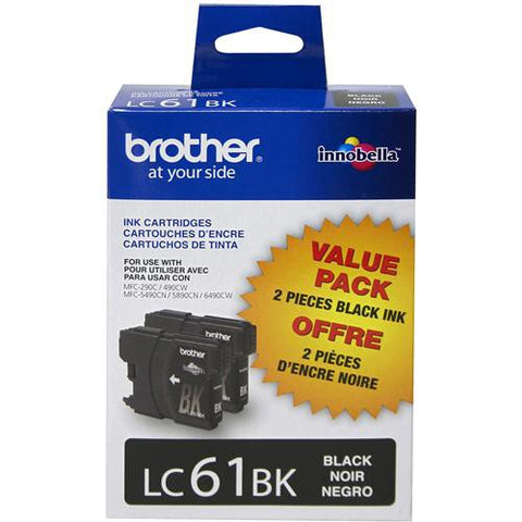 Brother LC612PKS Innobella Standard-Yield Black Ink Cartridge(2 Pack)