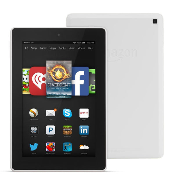 "Amazon Fire HD Tablet 7"" Display 8GB WIFI Fire OS 4.0 White"