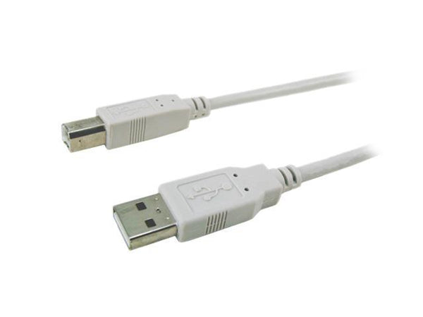 APC 19000-10 Frost White 10ft USB Fully Rated A-B USBA/USBB, USBA/USBB Cable