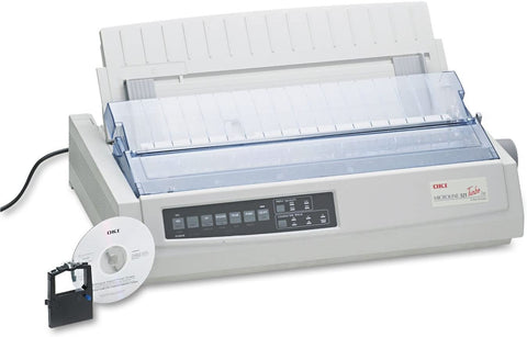 Oki MICROLINE 321 Turbo/n Dot Matrix Printer 62415501 White Refurbished