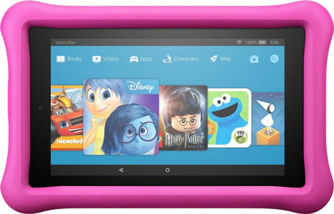 "Amazon - Fire Kids Edition 7"" Tablet 16GB 7th Gen 2017 Release Pink B01J90MOVY"