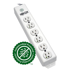 Tripp Lite Power Strip Medical 120V 5-15R-HG 6 Outlet 6ft Cord PS-606-HG