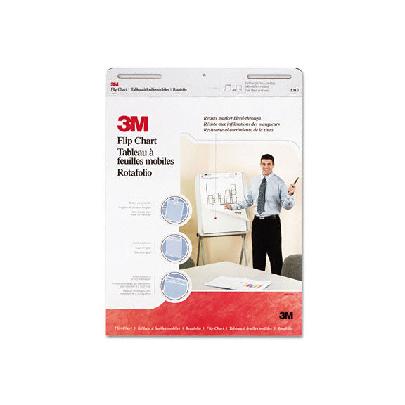 3M 570 Professional Flip Chart Pad Unruled 25 x 30 White 40 Sheets 2 3MS-570