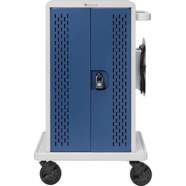 Bretford Core MS Store Charge Cart Rollers 36 Chromebook Devices Concrete/Topaz