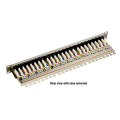 Black Box CAT6 Shielded Patch Panel - 1U, 24-Port JPS60A-24