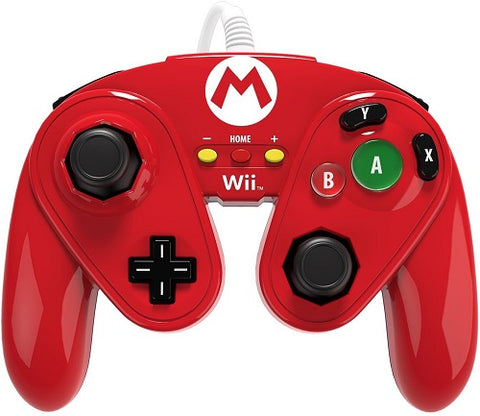 PDP Wii U Wired Fight Pad Mario Red/Blue 085-006-MA