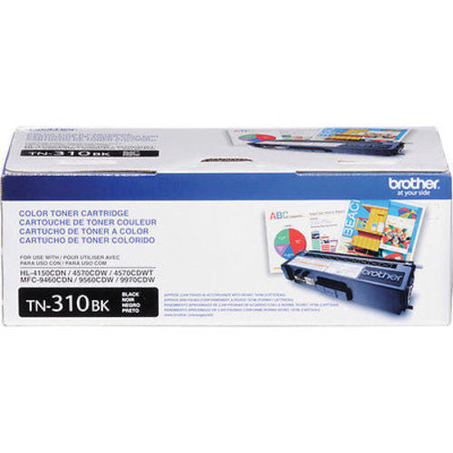 Brother TN310BK Black Toner Cartridge Opened