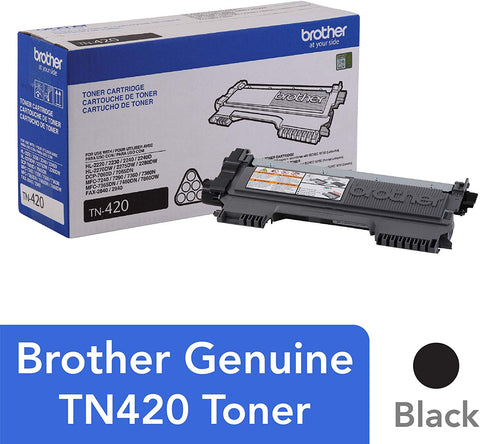 Brother Black Mono Laser Toner Cartridge TN420 Standard-yield