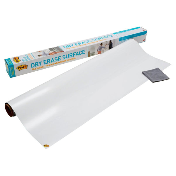 Post-it Dry Erase Surface 4 ftx3 ft for Tables, Desks and Other Surfaces DEF4X3