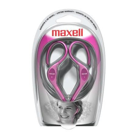 Maxell Stero Ear Hook Headphones EH-130P -Pink!