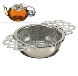 Empress Tea Strainer w/ drip bowl