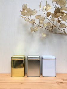 Square Tin w/ Hinged Lid (3 colours)