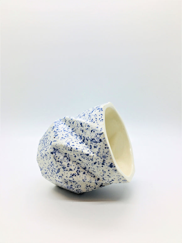 Blue Speckle Tea Cup