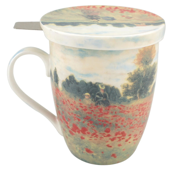 Monet, Poppies (Tea Mug With Infuser)
