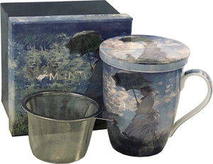 Monet, Girl With Parasol (Tea Mug With Infuser)