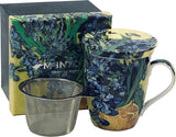 Van Gogh, Irises (Tea Mug With Infuser)