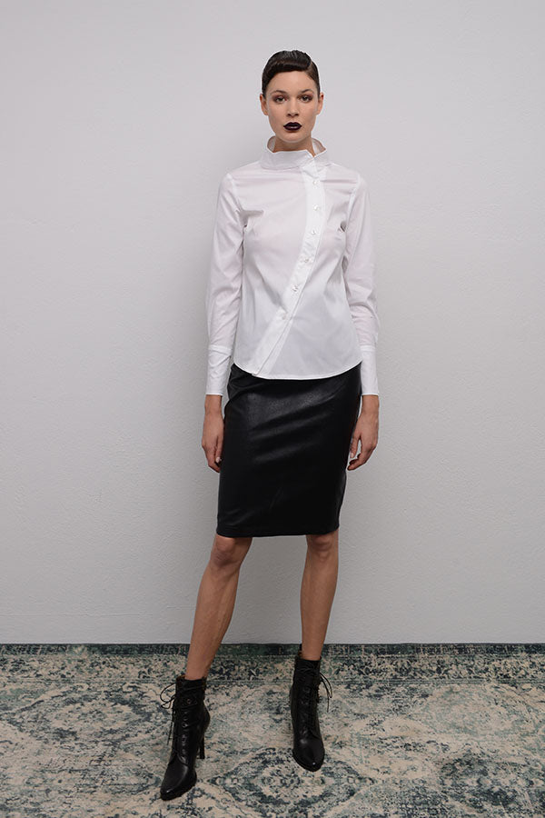 Load image into Gallery viewer, CROCO EFFECT FAUX LEATHER PENCIL SKIRT
