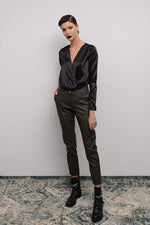 ANKLE LENGTH FAUX LEATHER PANTS