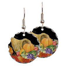 Thanksgiving Cornucopia Earrings