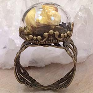 Amazing Jewelry Ring 10 - Ship in a Bottle Ring