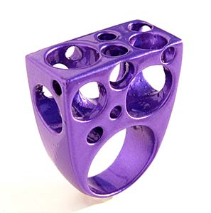 Amazing Jewelry Ring 13 - Purple Cheese Ring
