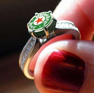 Amazing Jewelry Ring 20 - Beer Lover Engagment Ring