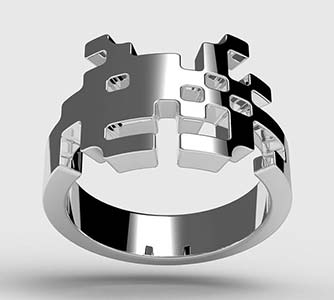 Amazing Jewelry Ring 9 - Space Invader Ring
