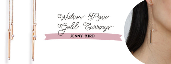 Jenny Bird Watson Rose Gold Earrings New Years Eve