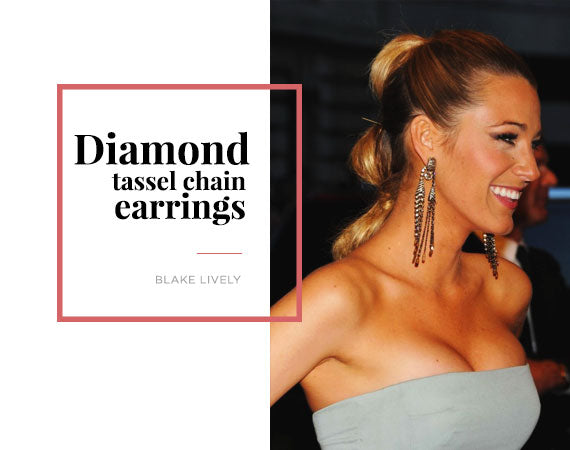 Blake Lively Diamond Chain Earring