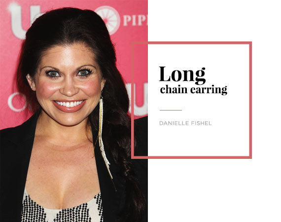 Danielle Fishel Long Chain Earring Trend