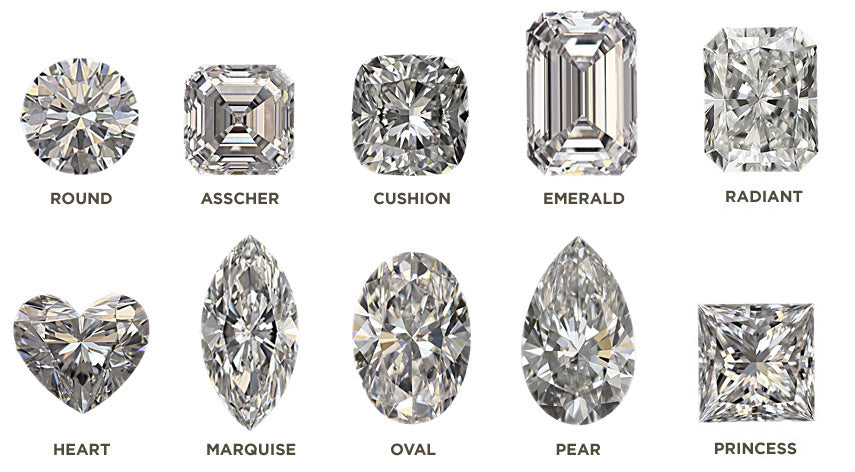 10 different cuts of diamonds
